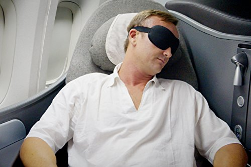 Luxury Patented Sleep Mask, Nidra Deep Rest Eye Mask with Contoured Shape and Adjustable Head Strap, Sleep Satisfaction Guaranteed, Sleep Anywhere, Anytime