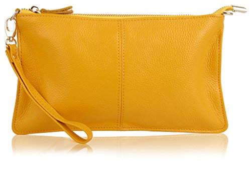YALUXE Womens Leather Wristlet Shoulder