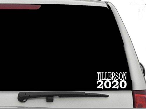 """Decal Dan - """"Tillerson 2020"""" Vinyl Car Truck Window Laptop Decal Sticker Political"""