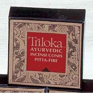 Triloka, Incense Ayurvedic Vatta, 20 Count