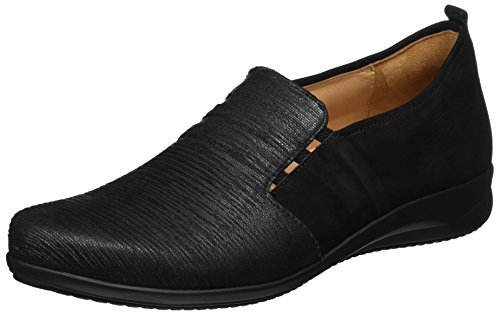 Mujer Ganter Schwarz Mocasines Fiona Multicolor f tPqH8wP