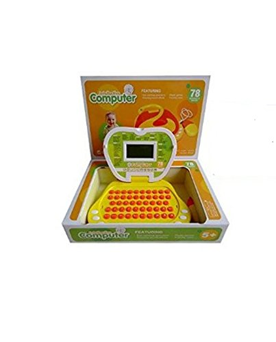 Lightahead Learning Machine Toy Portable Multi-function Intellective Computer Featuring 78 Activities and Games Intelligent learning machine Children Touch and Learn Educational Toy YELLOW