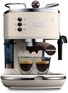 De'Longhi, Icona Vintage Espresso, Espresso machin, Roestvrij Staal in Retrolook met Chroomdetails, Beige