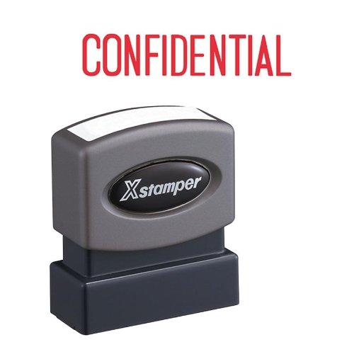 SHACHIHATA INC Confidential Ink Stamp, 1/2 x 1-5/8 Inches, Red Ink ()