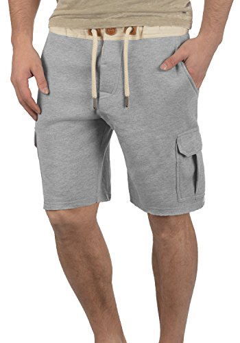 gris Trip claro Solid 8242 Melange cargo Pantalones cortos hombre gqqFAH