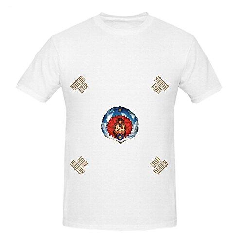 Santana Lotus Pop Mens Crew Neck Big Tall Shirt White