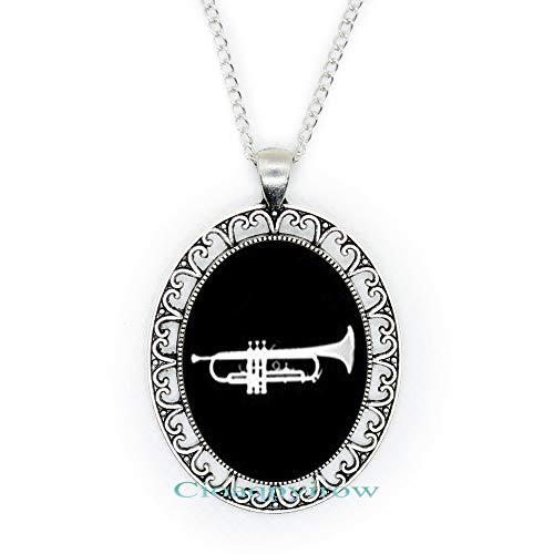 Cioaqpyirow Trumpet Necklace,Trumpet Gift,Trumpet Jewelry,Trumpet Player Gift,Trumpet,Musician,Music Bracelet,Musical…