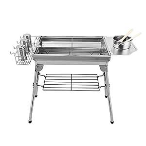 Barbecue a Carbone Griglia for Acciaio Inox carbonella Rack Borse Pieghevole Esterna con immagazzinaggio for 3~5 Persone… 12 spesavip