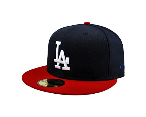 New Era 59fifty Mens Cap Los Angeles Dodgers Navy Blue Fitted Hat