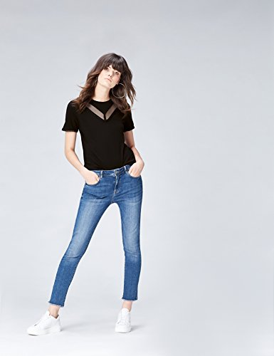 nera Shirt T nera girocollo donna cFxq0S7