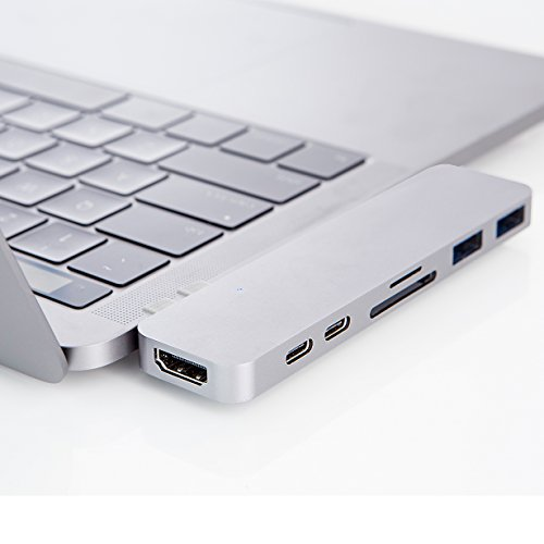 HyperDrive USB C Adapter, Sanho Type-C DUO Hub 50Gbps for MacBook Pro 13