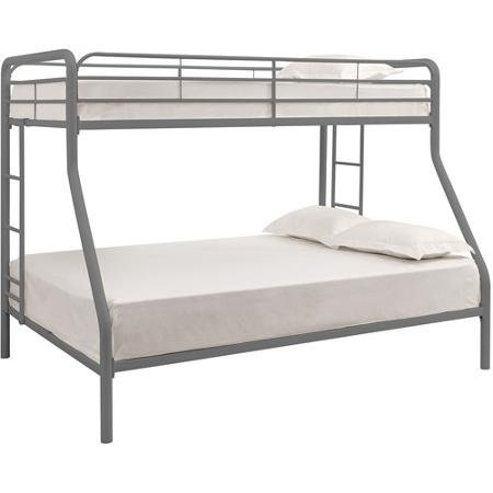 Twin over full bunk bed metal dorel multiple colors space for Space saving bed frame