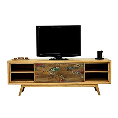 Mobili Tv Design Scandinavo.Mathi Design Mobile Tv Scandinavo 180 Cm Wood Amazon It
