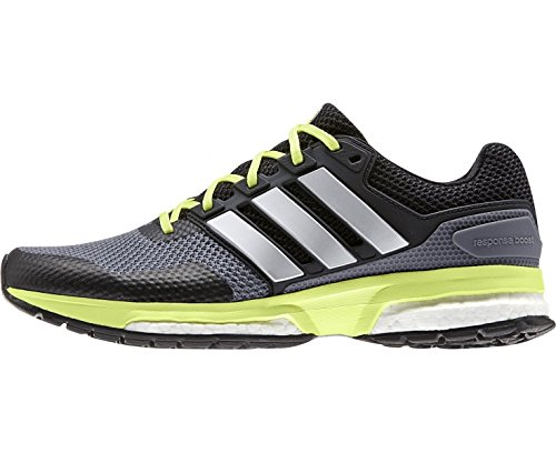 adidas Response Boost 2, Chaussures de Running Compétition Femme, Gris, 42 EU Grigio/Giallo