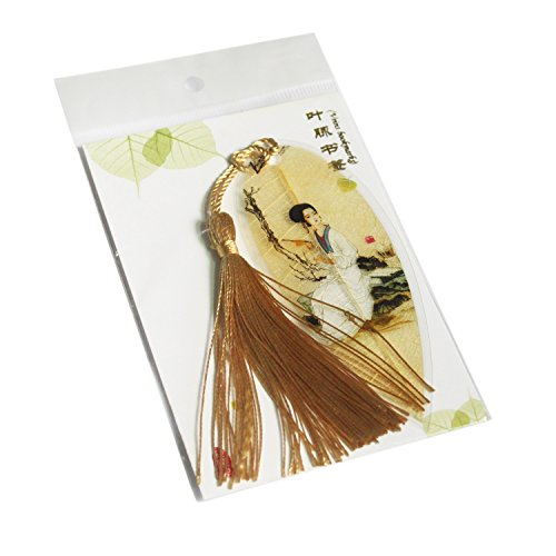Leaf Bookmarks - Made of Real Leaves 4PCs Landscape vein bookmark with Traditional Chinese painting Business Gift Photo #5