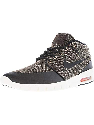 Nike Men's Stefan Janoski Max Mid Baroque Brown/Laser Crimson Sail Black Mid-Top Fashion Sneaker - 5M