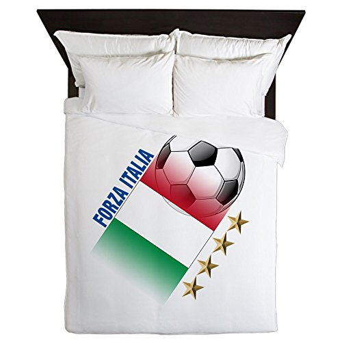 CafePress - Italian World Cup Soccer - Queen Duvet Cover, Printed Comforter Cover, Unique Bedding, Microfiber by CafePress