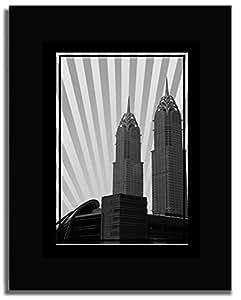Al Kazim Towers Metro - Black And White No Text F04-nm (a3) - Framed