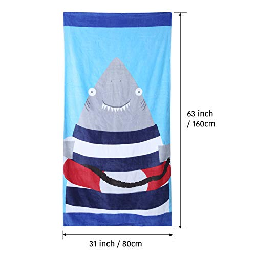 Wowelife Baby Bath Towels for Bath, Pool and Beach 100% Cotton 30 x 63 inch Extended Length for Both Children and Adults(Happy Jaw) by Wowelife (Image #3)