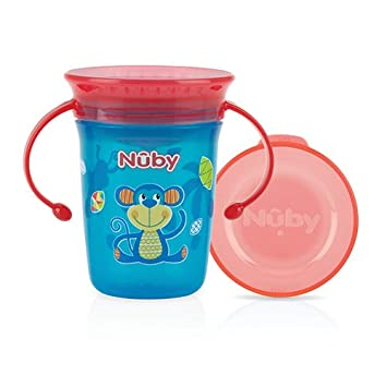 Nûby ID10410AQUA 360° Wonder Cup - 240 ml, Blau, Ab 6 Monate