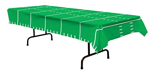 Beistle Game Day Football Tablecover Party Accessory (1 count) (1/Pkg) (108
