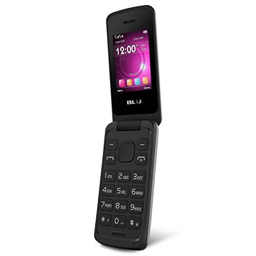 BLU Diva Flex 2.4 - Flip phone - unlocked Dual Sim - Silver