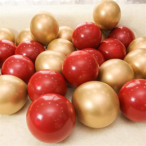 - Kubert Ruby Red Balloon New Glossy Metal Pearl Latex Balloons Total 50Pcs 12inch Party Latex Balloon for Chrome Metallic Colors Air Balloons Globos Wedding Party Decoration Birthday Wedding Engagement Party Bridal Baby Shower Party Decoration