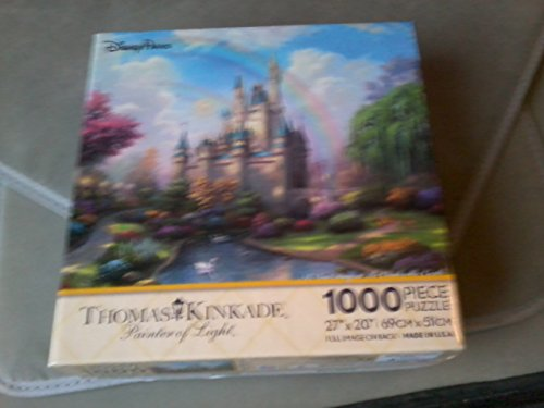 Disney Parks A New Day at the Cinderella Castle Thomas Kinkade 1000 Piece Jigsaw - World Cinderella Castle Disney