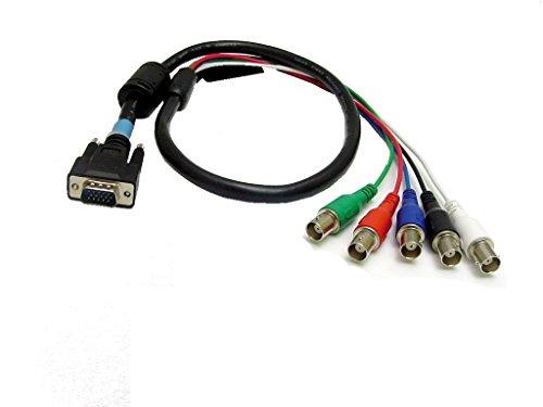 Rgb Bnc Cable - Calrad Electronics 55-621-3 DB15 Male to 5 BNC Females RGB-HDTY Cable