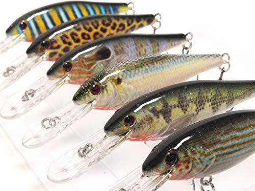 wLure Minnow Crankbait for Bass Fishing Bass Lure Fishing Lure (HC187KB, with Tackle Box)