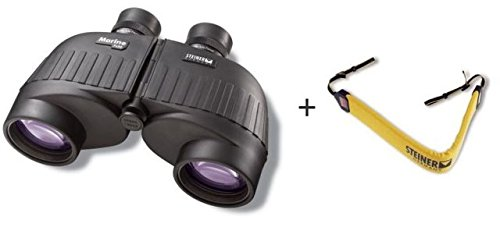 Steiner 7×50 Marine Rubber Armored Binoculars, w Binocular Float Strap, Yellow, 575-KIT For Sale