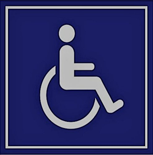 20 Pack of Disabled/Wheelchair Symbol ADA Compliant Handicap Access 3 X 3 Inch Blue Stickers, Adhesive on Back by SecurePro Products (Image #2)