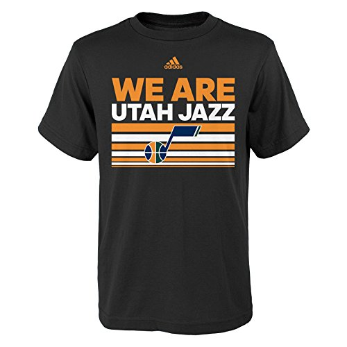 fan products of NBA Utah Jazz Boys Youth Born One Short Sleeve Tee, X-Large (18), Black