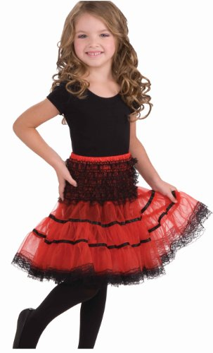 Forum Novelties Child's Crinoline Skirt, Red and Black by Forum Novelties