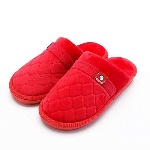 Home 25 Foam Indoor House Warm Memory Slide Shoes Women Velvet Red Slippers Cozy Men rYZn1IqrwO