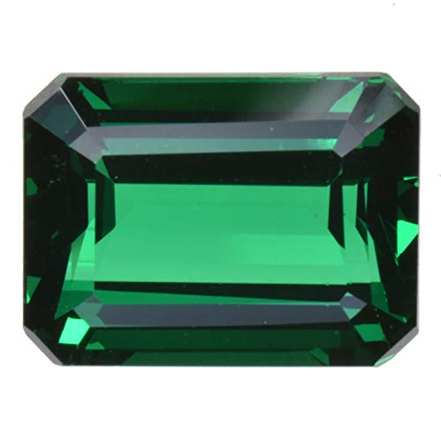 uGems Simulated Emerald Faceted Stone Octagon 16mm x 12mm