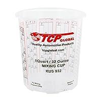 Paquete de la tienda personalizada de 12 tazas de mezcla de pintura de 32 onzas con una proporción de mezcla calibrada en el lado de la taza