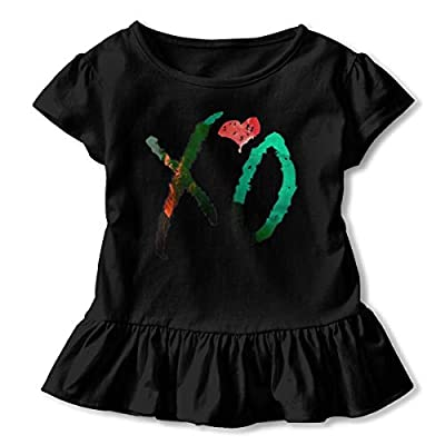 Xo Wee-KND Shirt Cartoon Little Baby Girls Flounced T Shirts Outfits for 2-6T Baby Girls