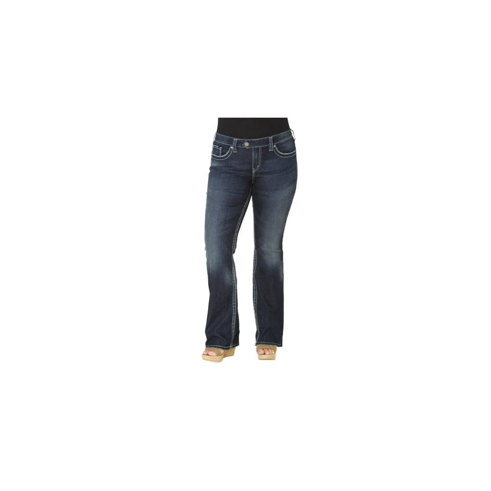 Silver Jeans Women Plus Size Jeans Tuesday Bootcut Stretch In Indigo Wash