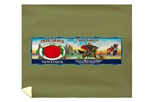 (Free Lance Tomato Label 2058 (88x104 King Microfiber Duvet Cover))
