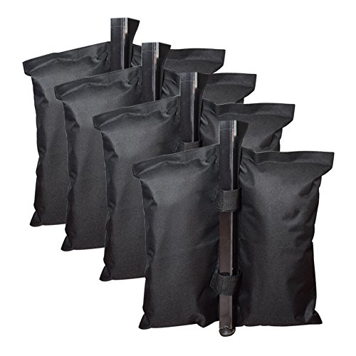 Fasmov Canopy Weight Bags for Instant Legs Canopy Weights Sand Bags Leg Weights for Pop up Canopy, 4-Pack by Fasmov
