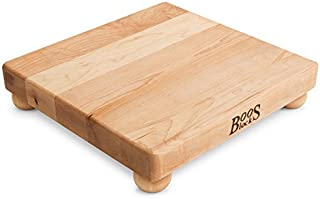 product image for John Boos Block B12S Maple Wood Edge Grain Cutting Board with Feet, 12 Inches Square, 1.5 Inches Thick