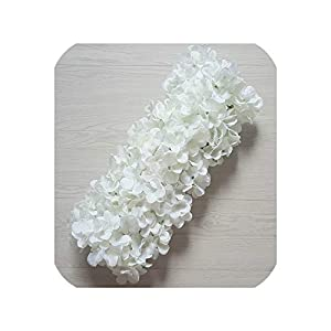 Artificial Silk Flowers Row Road Lead Hydrangea Rose Wedding Centerpieces Flower Strip Party Backdrop Arch Stage Decor Wholesale 84