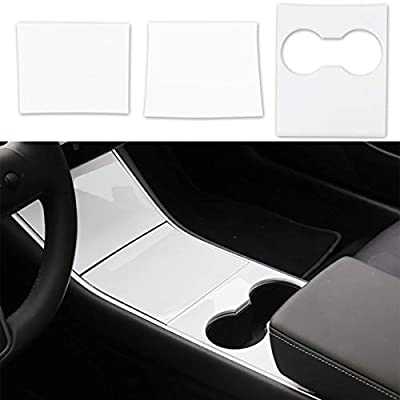 BMZX for Tesla Model 3 Center Console Wrap Kit ABS- Piano White