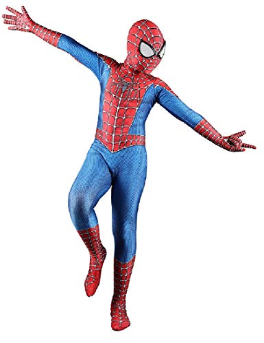 RELILOLI Spiderman Costume for Kids Unisex Size (Kids-XL(130-140cm), Amazing Spider)]()
