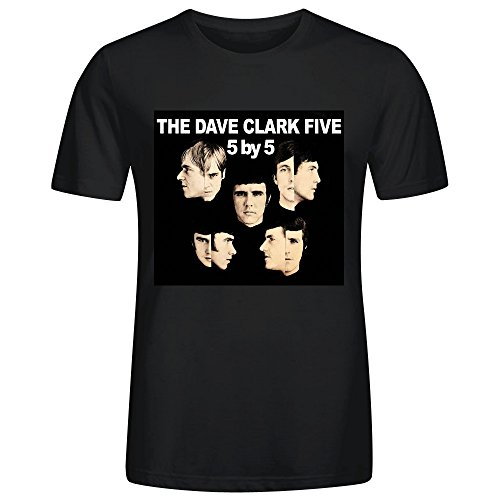 The Dave Clark Five 5 by 5 Adult Men T-Shirt Black - Indian Running T-shirt