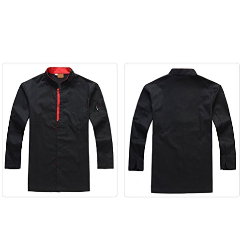 Zhhlaixing Unisex Clothes 2 Colors Black Long Uniform Classic Advanced Chef Sleeve Work 8870wrZq