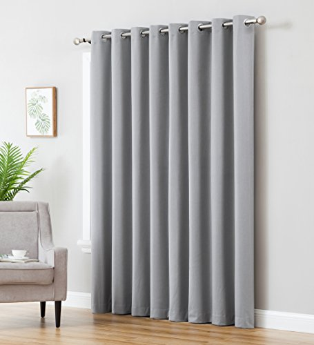 Cheap  HLC.ME Textured 100% Blackout Room Darkening Thermal Insulated Curtain Grommet Panel for..