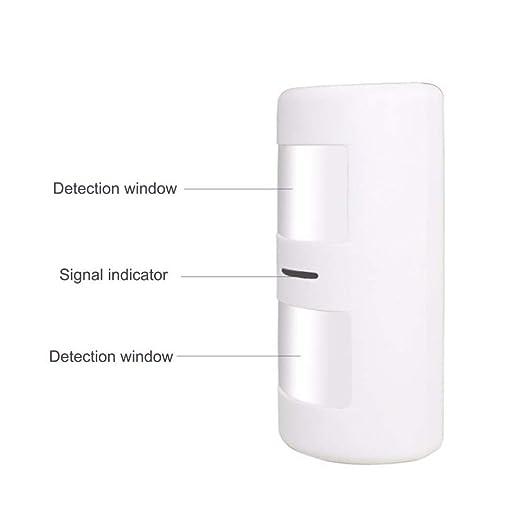 Detector de movimiento alarma inalambrico interior anti mascotas 25Kg Sensor movimiento infrarrojo para alarma sin cuotas inmune a peque/ños animales domesticos como perros y gatos