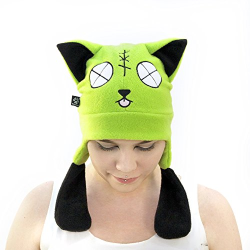 Pawstar Zombie Kitty Cat Ear Hat - Lime -